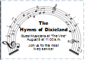 HYMNS OF DIXIELAND AUGUST 5